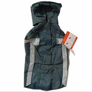 🛸2/$30 Dog It Hooded Raincoat Velcro Pocket M
